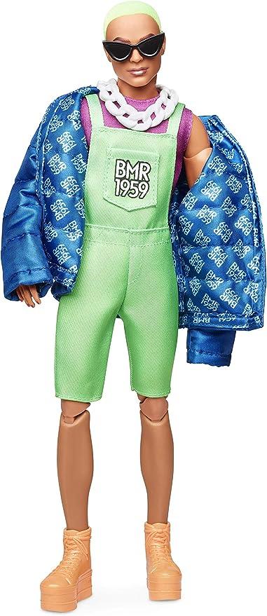 Barbie GDV12 KEN fashioniste Bambola con Camicia Blu Sole Sfumati