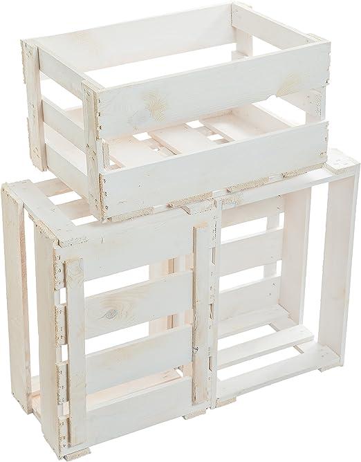 3 pcs nueva blanca de vino cajas/caja de madera/Caja de fruta de ...