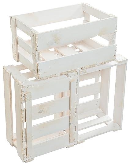 3 pcs nueva blanca de vino cajas/caja de madera/Caja de fruta de