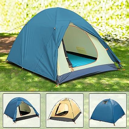 68d0f60d517d83 Ancheer Outdoor Zelt 2 Personen ultraleicht Wasserdicht Campingzelt  Kuppelzelt Trekkingzelt 4000mm Wassersäule