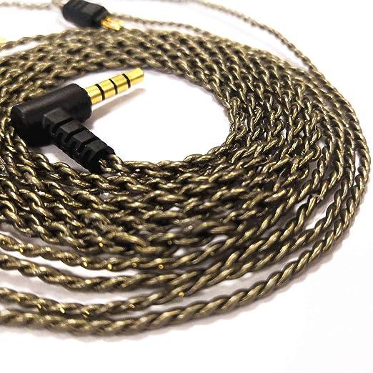 RevoNext Detachable Cable,QT2//QT2S//QT3S//QT5//RX8//RX8S Dedicated Cable 0.78mm 2-Pin Braided Cable Black-mic