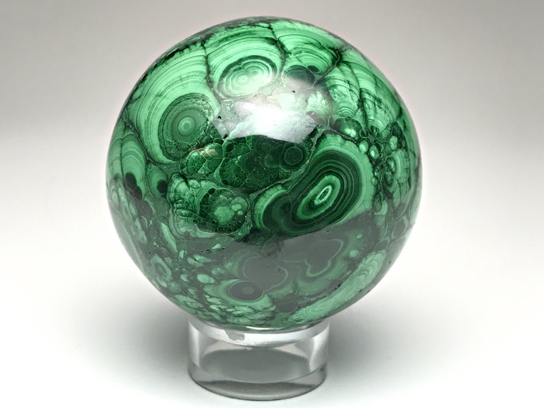 Astro Gallery Of Gems Polished Malachite Sphere - 295. 2 Grams