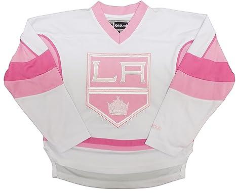 681cfbd61dda Amazon.com  Los Angeles Kings Girls White Pink Youth Fashion Jersey ...