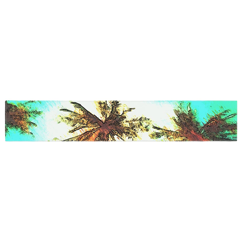 Kess InHouse Oriana Cordero Paradise Teal Trees Table Runner