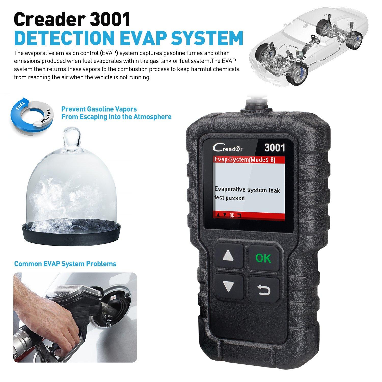 LAUNCH CR3001 X431 Creader 3001 OBD2 Scanner Automotive Car Diagnostic Check Engine Light O2 Sensor Systems OBD Code Readers Scan Tools