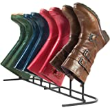 Andrew James Boot Rack | Metal Boot Organiser | Storage for 4 Pairs | Indoor & Outdoor Use | Ideal for Wellington Boots