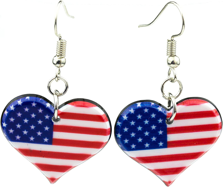 Patriotic Star Cluster Earrings,Star Earrings,Glitter Star Earrings,Red White Blue,Silver,Patriotic Earrings,Memorial Day,July 4th Earrings
