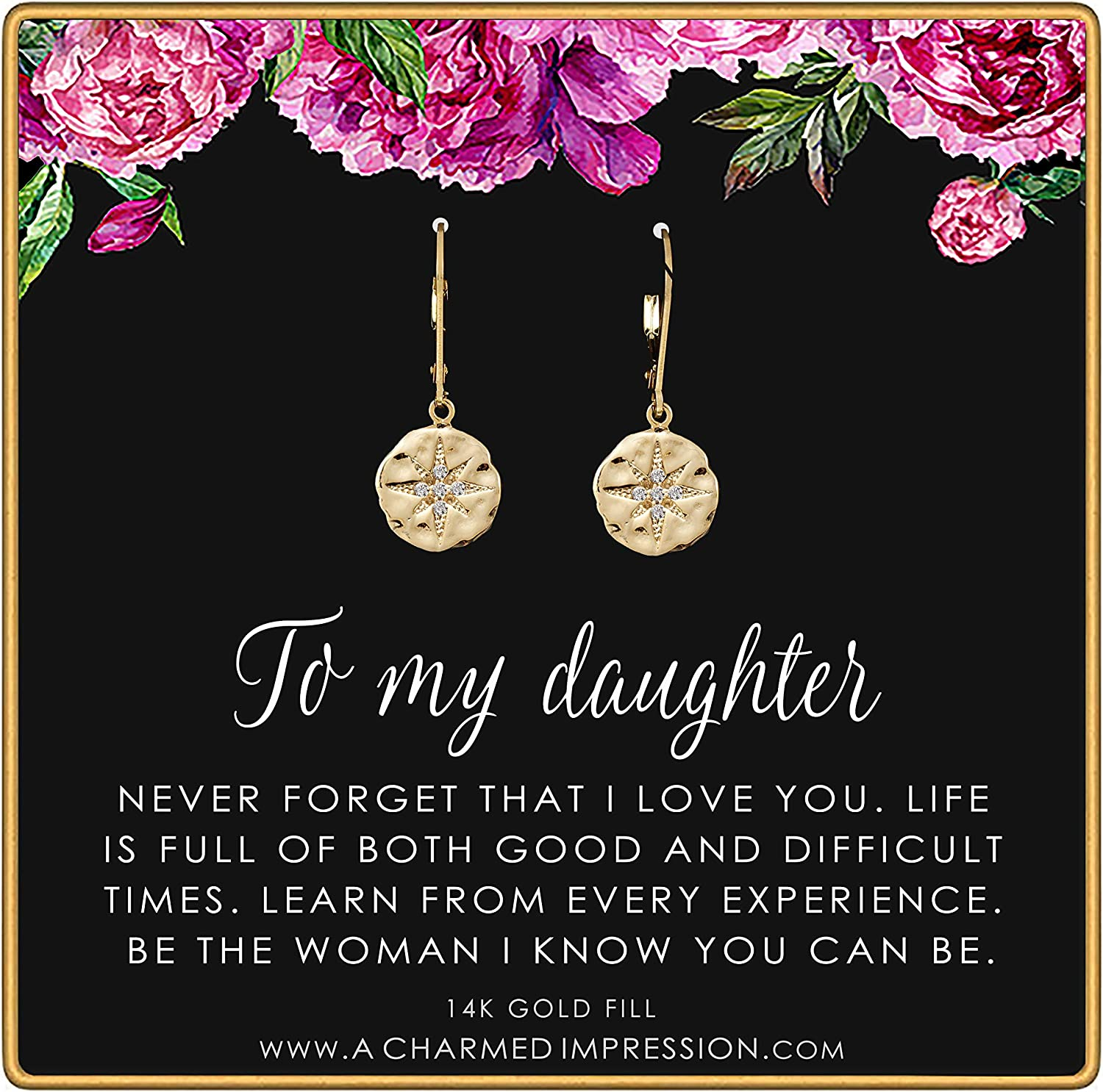 To My Daughter • Inspirational Max 48% OFF Earrings Gi Starburst OFFicial site Jewelry