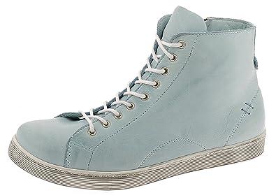 0341500 Schuhe Damen Halbschuhe Sneaker High Top, Schuhgröße:42;Farbe:Beige Andrea Conti