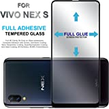 Hupshy Full Glue Edge to Edge Fit 9H Hardness Bubble Free Anti-Scratch Crystal Clarity 5D Curved Screen Guard for Vivo Nex S - Black (FTG01)