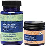 Motherlove Breastfeeding Essentials—More Milk Plus (60 ct.) & Nipple Cream (1oz)—Vegan Lactation Supplement to Enhance Breast