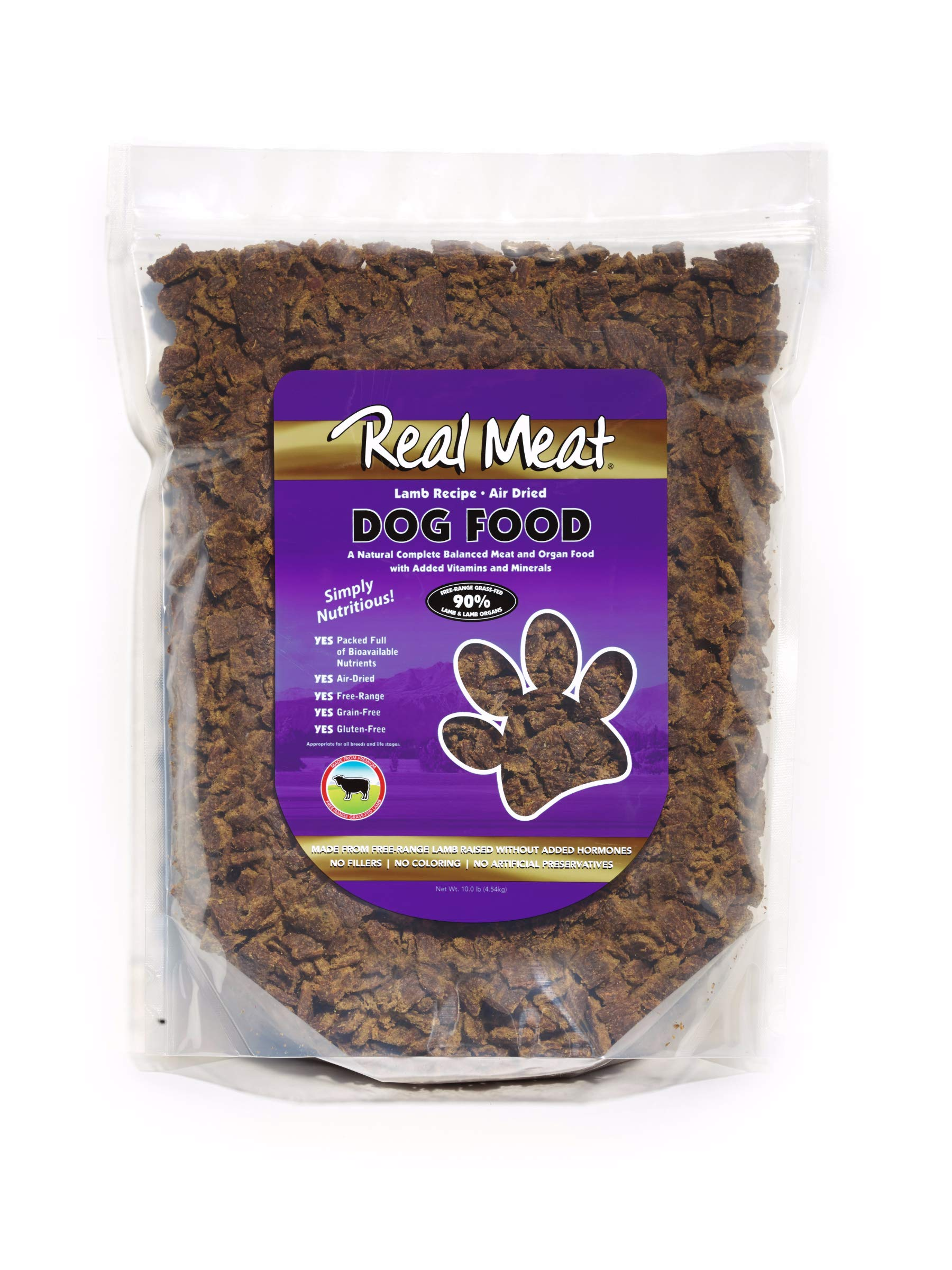 Real Meat Rmc70110 Air Dried Lamb Pet Treat, 10 Lb by Real Meat