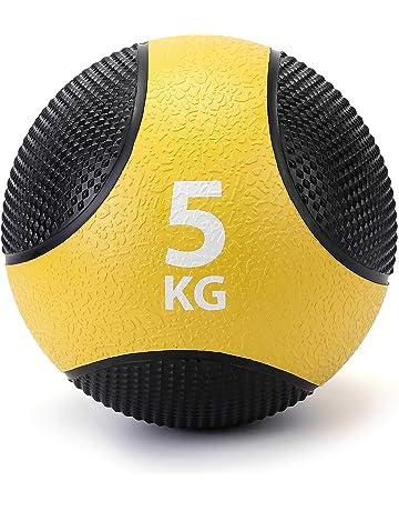 56603f555f32d ZELUS Balón Medicinal 100% Caucho para el Entrenamiento de Pesas Fitness Entrenamiento  de