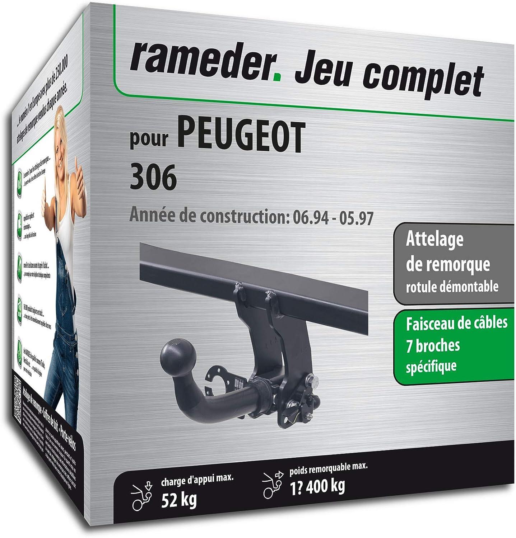 Rameder Attelage rotule démontable pour Peugeot 306 + Faisceau 7 Broches (134344-00273-1-FR)