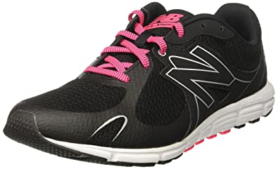 New Balance Women\u0027s W630V5 Running Shoe, Black/Alpha Pink/Metallic Silver, 6