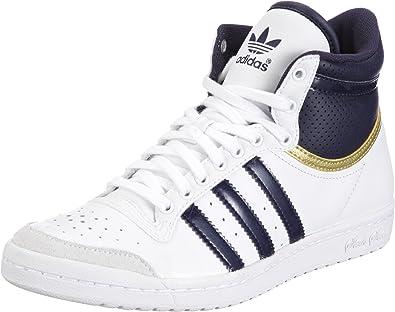 adidas Top Ten Hi Sleek Blanc Marine Bleu Or 37: