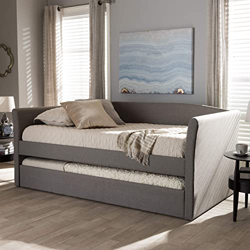 Baxton Studio Camino Modern and Contemporary Grey Fabric Upholstered Daybed