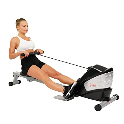 6757f6aa017 Amazon.com   Sunny Health   Fitness SF-RW5622 Dual Function Magnetic Rowing  Machine Rower w  LCD Monitor   Sports   Outdoors