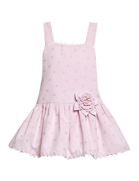VESTIDO niña rosa CLAVEL _ vestido niña tirantes, vestido niña verano, vestido niña bonito