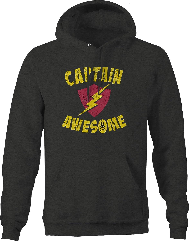 M22 Captain Awesome Superhero Lightning Shield Sweatshirt