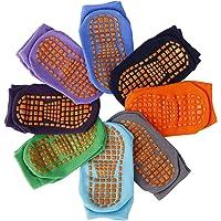 MaoXinTek Calcetines Antideslizantes para Niños Pequeños Algodón Lindo con Puños, Calentar 8 Pares de Zapatillas…