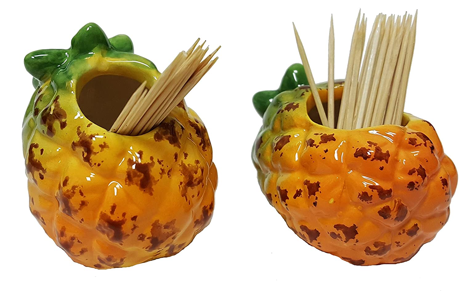 Pineapple Ceramic Hand Painted Kitchen Cookie Jar Yankee Forge