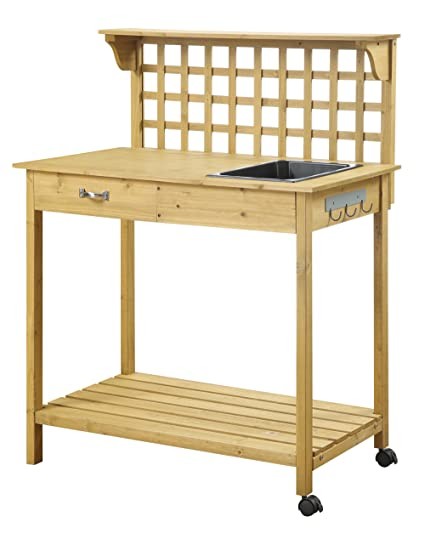 Pleasing Convenience Concepts Lattice Potting Bench Ibusinesslaw Wood Chair Design Ideas Ibusinesslaworg