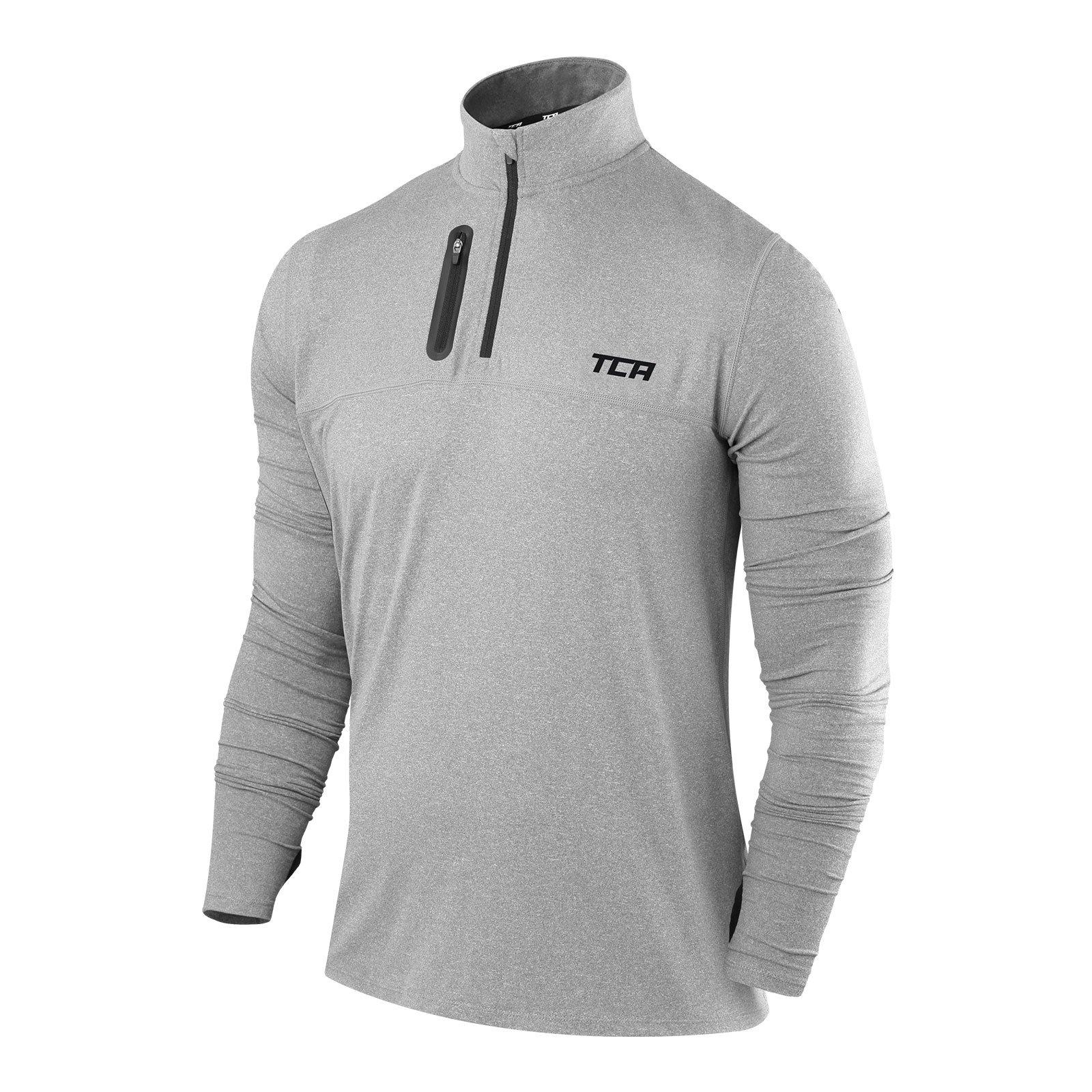 TCA Men's Fusion Pro Quickdry Long Sleeve Half-Zip