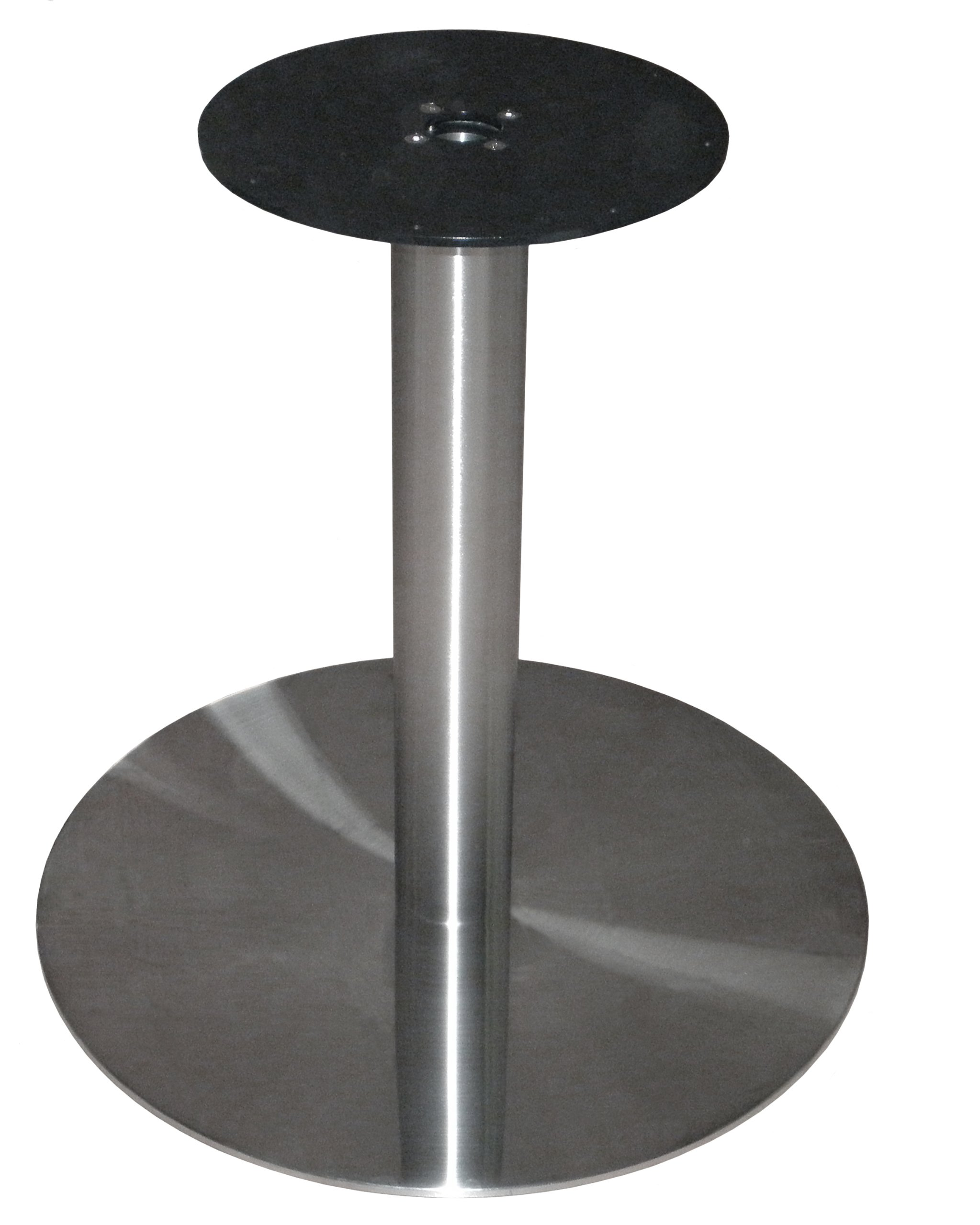 ATC Futura Round Powder-Coated Stainless Steel Low Profile Table Base, 28'' Base D x 28-1/2'' H