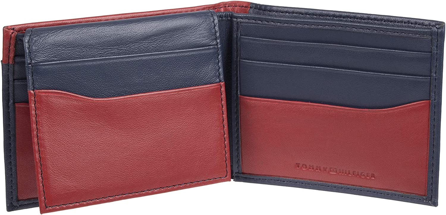 Tommy Hilfiger Mens RFID Blocking 100/% Leather