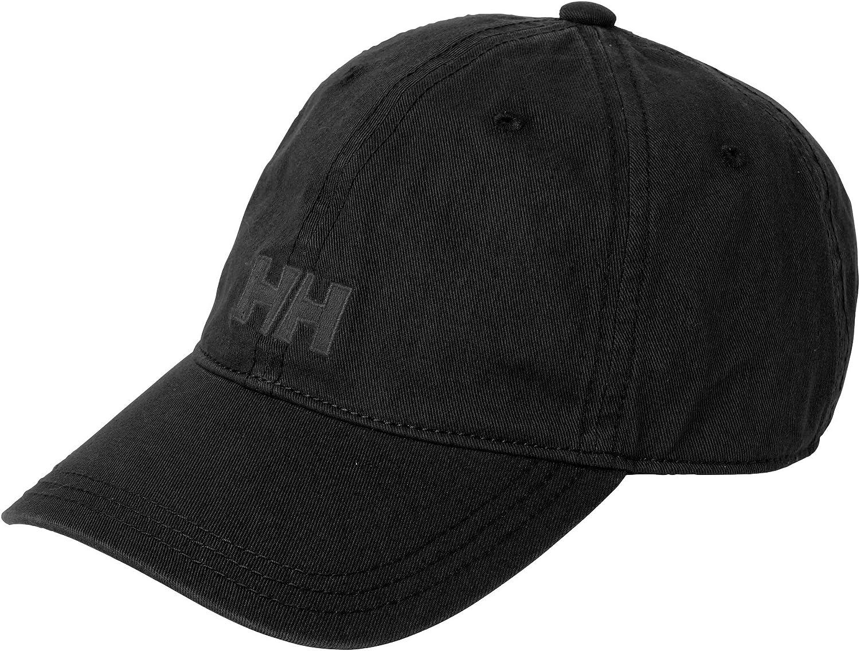 Helly Hansen Logo Cap Gorra Unisex 100% algodón para protegerse del Sol Durante Actividades al Aire Libre, Hombre