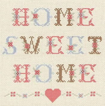 Anchor Home Sweet Home Counted Cross Stitch Kit Amazoncouk