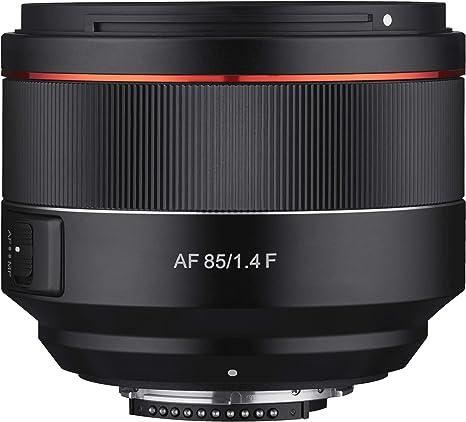 Samyang SA7073 - Objetivo AF para cámara Nikon F (85 mm, F1.4 F ...