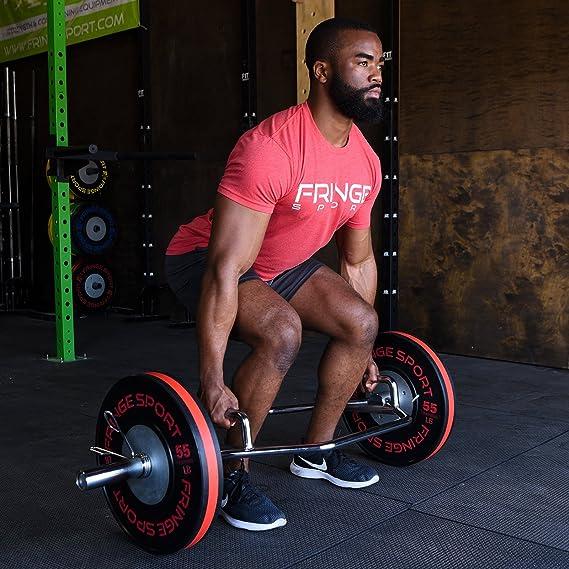 Hexagonal/Trampa Bar - y encoge de hombros olímpico de peso muerto - levantamiento de potencia, al hombro & otros Barra para mancuernas de entrenamiento de ...