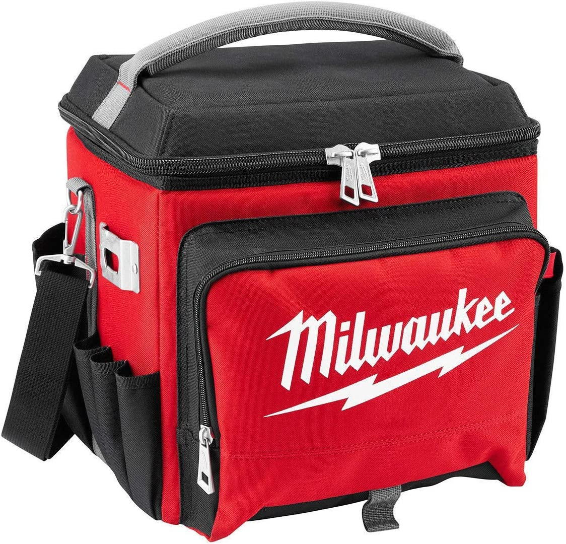 Milwaukee Electric Tool 48-22-8250 Sided Jobsite Cooler, Polyester, 11.1 x 13.77 14.96 H, 3, 5 Pockets