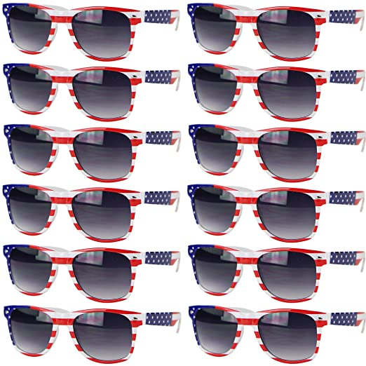 5f3ec305d13 Amazon.com  UB Eyewear USA American Flag Patriotic Sunglasses ...