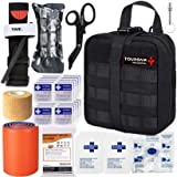 TOUROAM IFAK Molle Trauma Kit- Emergency Survival First Aid Kit, Military Tactical Admin Pouch EMT, Bug Out Bag Camping Gear