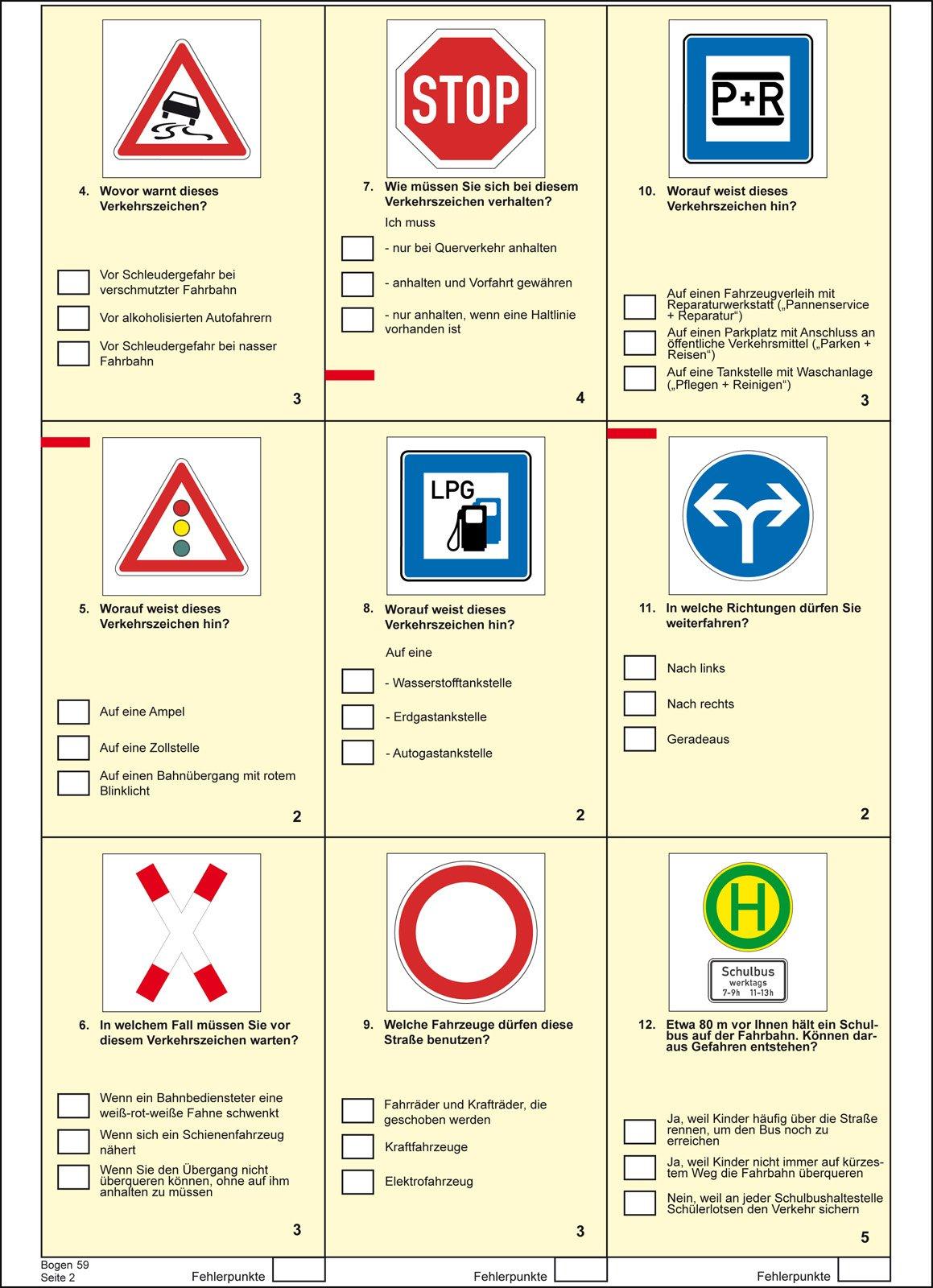 Führerschein Fragebogen Klasse B (PKW): Amazon.de: Lange