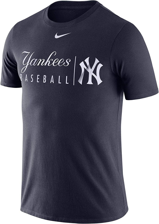 Nike Mens MLB New York Yankees Practice Tee Shirt Navy Size Medium