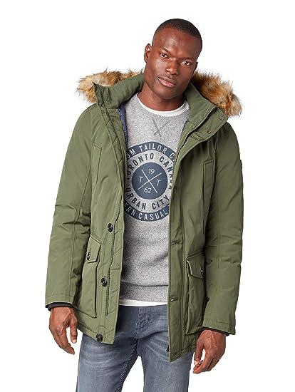 Tailor Winterjacke Jacke Und Herren Fakefur Tom Kaputze Mit pqSzVMU