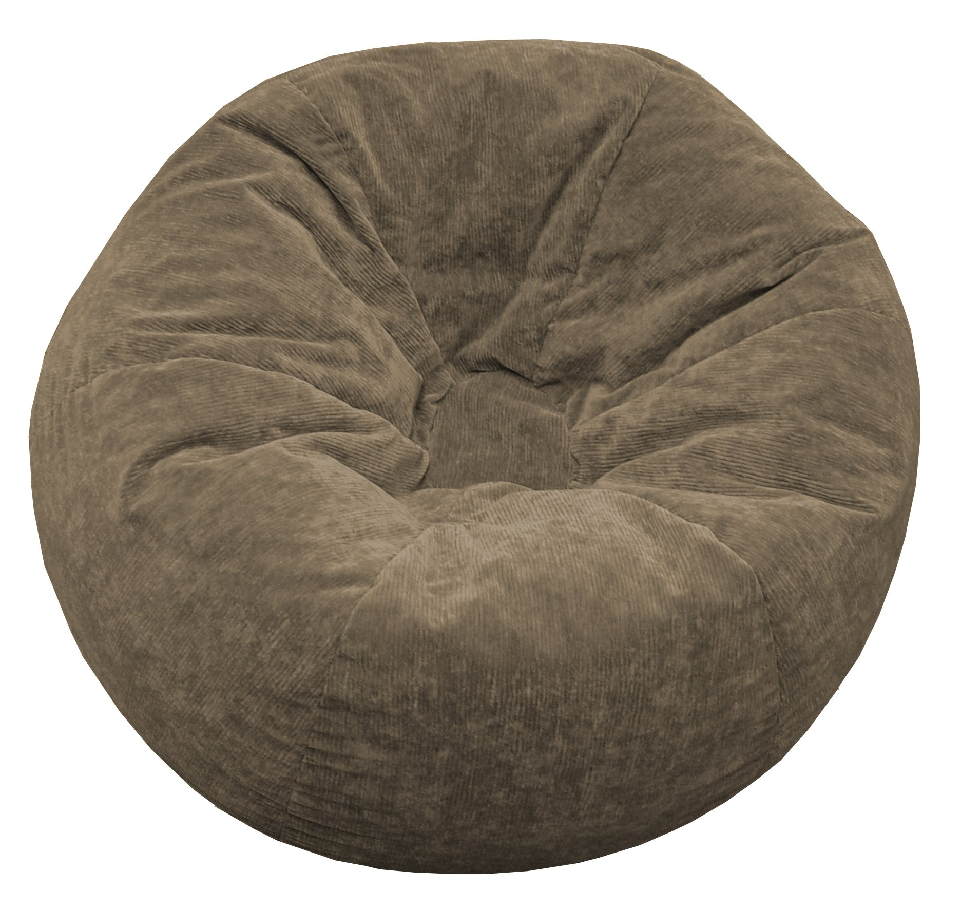 Gold Medal Bean Bags Micro-Fiber Suede Corduroy Bean Bag, X-Large, Toast