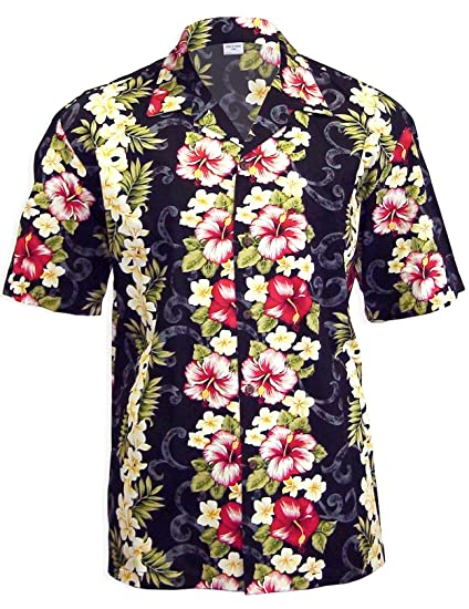 befbd2d0 Red Hibiscus and Island Plumeria Aloha Shirt at Amazon Men's Clothing  store: Button Down Shirts