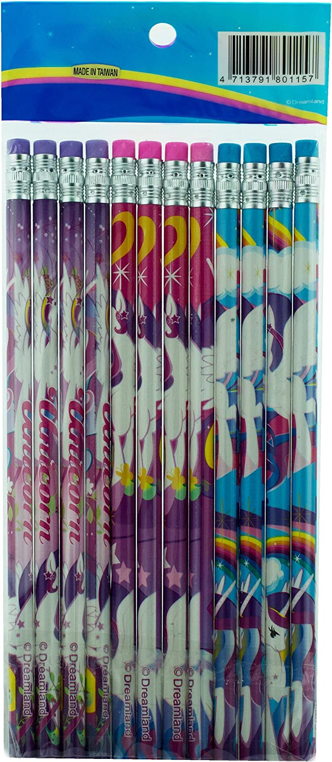 Unicorn 12 Pencils Pack for Party Favors