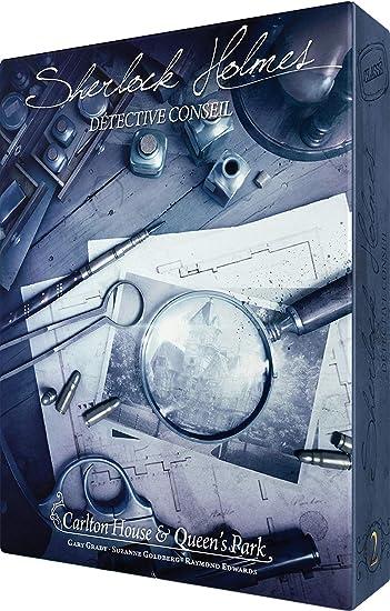 Asmodee- Sherlock Holmes DC : Carlton House & Queens Park, SCSHCQ01FR, Jeu Coopératif: Amazon.es: Juguetes y juegos