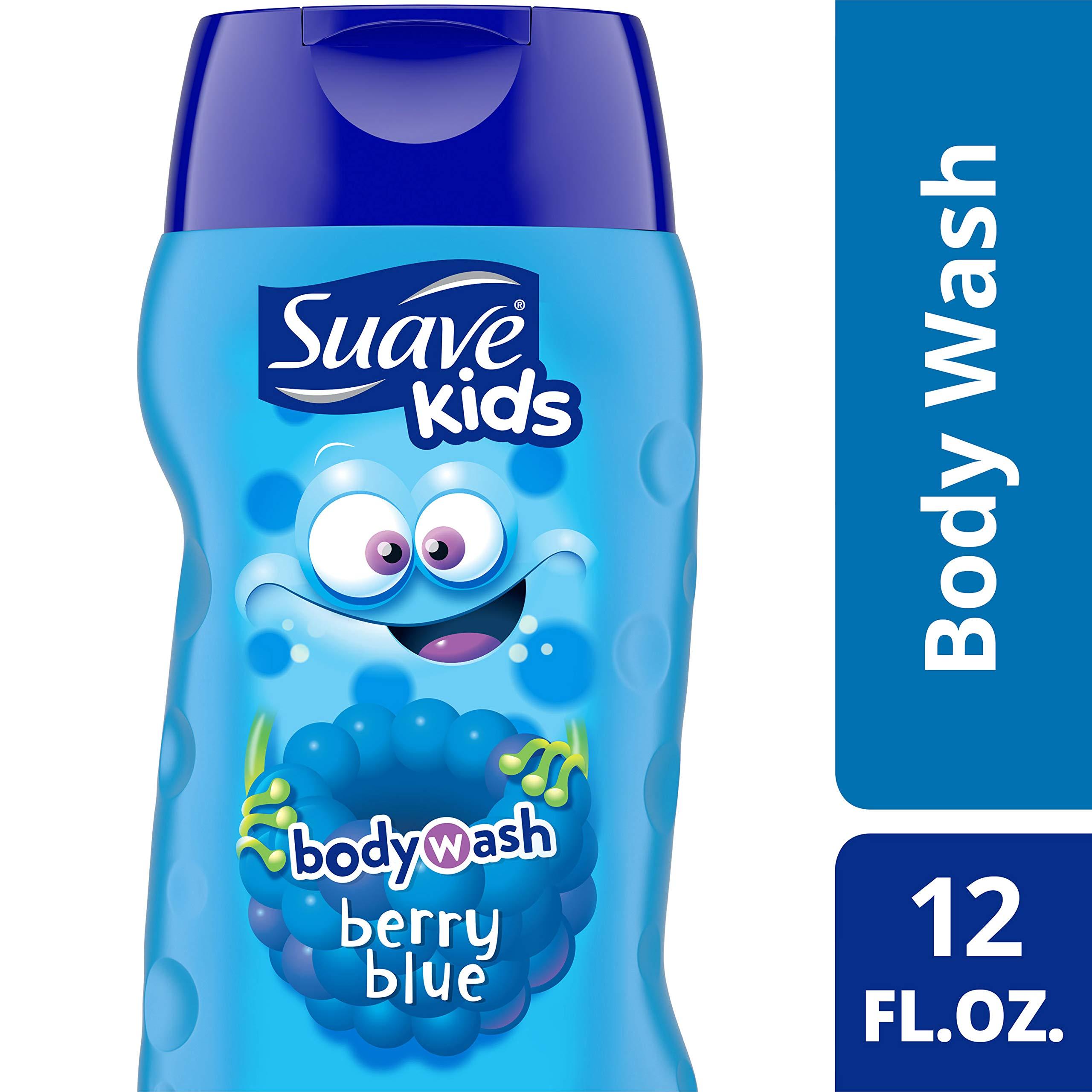 Suave Tear Free Berry Blue Body Wash 12 oz ,