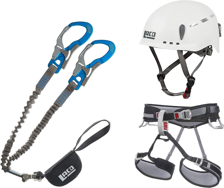 LACD Ultimate S - Set de escalada (con giro giratorio) + arnés de escalada (tamaño L, protector 2.0 blanco)