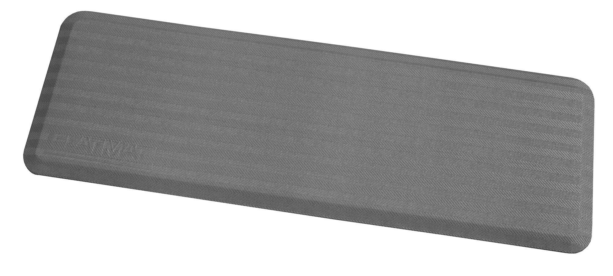 Arrowhead Healthcare Supply P-107350-24-05 FLATMAT, 24'' Wide, Bedside Fall Mat, Cool Grey, Woven Pattern