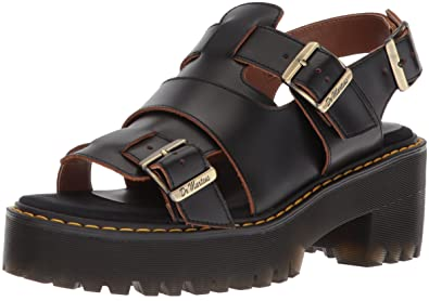 d3b5f7779892 Dr. Martens Women s Ariel Vintage Smooth Fisherman Sandal Black 9 Medium UK  (11 US