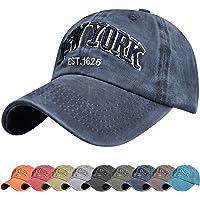 UMIPUBO Gorra de béisbol para Hombre Ajustable de algodón Classic Gorra Bordado New York Vintage Unisex Verano Sombreros…