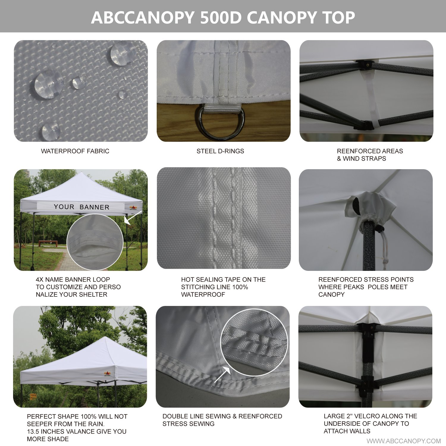 Amazon.com  AbcCanopy 10x10 Pop up Tent Instant Canopy Commercial Outdoor Canopy with Wheeled Carry Bag and 4x Weight Bag (WHITE)  Garden u0026 Outdoor  sc 1 st  Amazon.com & Amazon.com : AbcCanopy 10x10 Pop up Tent Instant Canopy Commercial ...